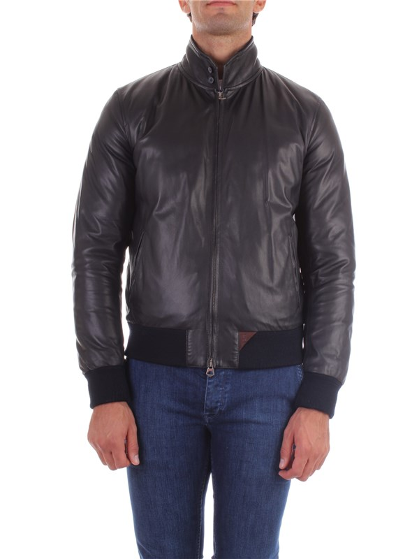 Stewart Leather Jacket GIDU180S96COLZ Man