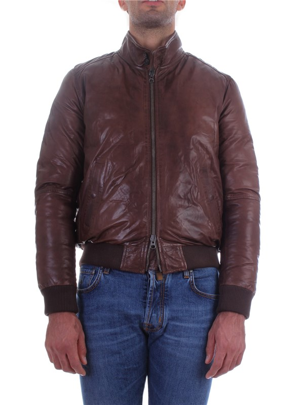 Andrea D'amico Leather Jacket A17DGU0245 Man