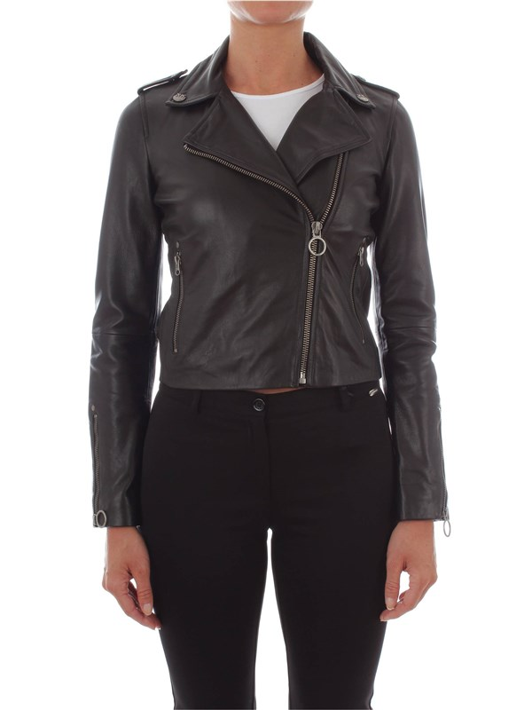 Pinko Leather Jacket 1G13LM-Y4QE Woman