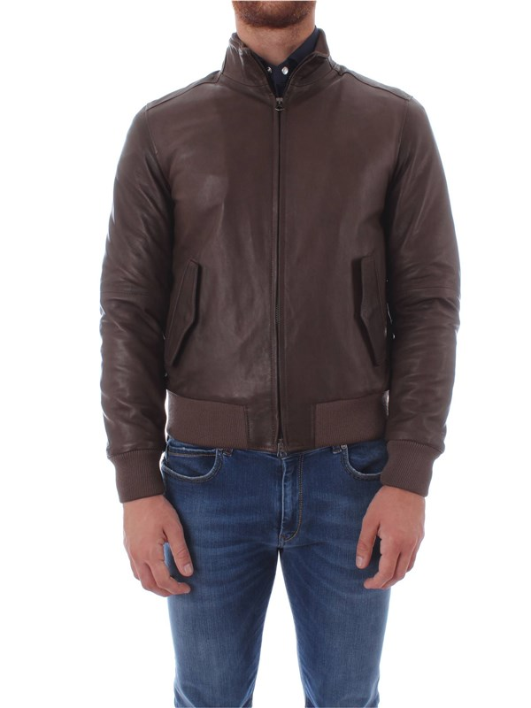 Bruto Leather Jacket U10M0031 Man