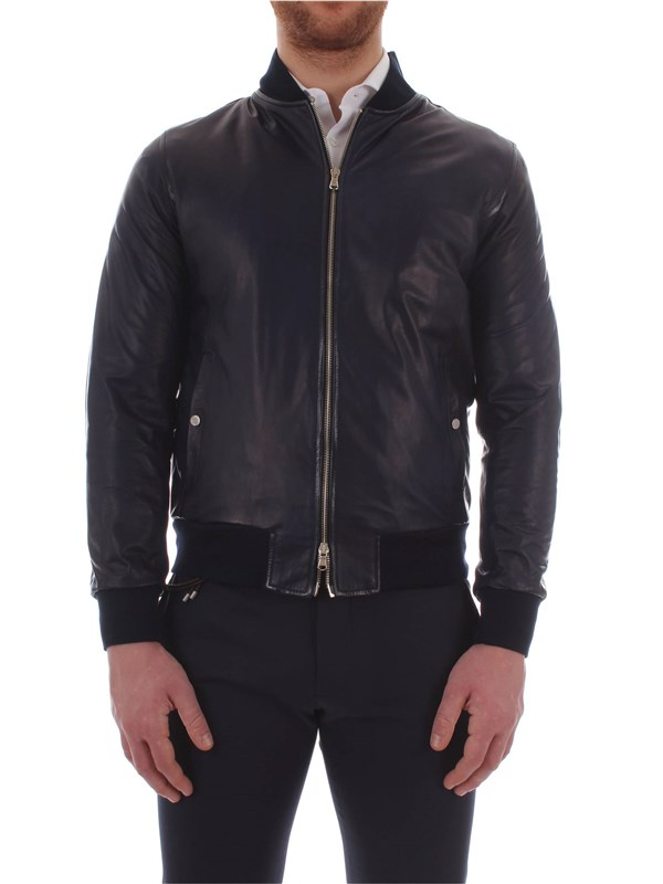 Barba Leather Jacket CGP DOG BL Man